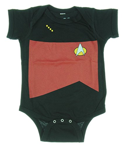 Star Trek The Next Generation Starfleet Uniform Baby Romper (0-6 Months, Red/Command)