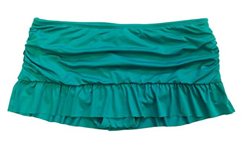 Apt. 9 Blue Ruched Ruffled Swim Skirtini Bottoms for Women (12) ()