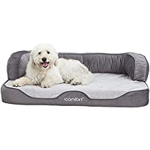 iComfort Sleeper Sofa Pet Bed with Dual Action Cool Effects Gel Memory Foam, X-Large, Grey