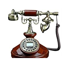 Solid wood imitation European technology phone calls with a Vintage Vintage Antique display