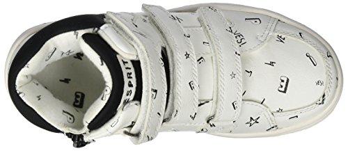 ESPRIT Unisex-Kinder Freemont Tape Hohe Sneaker Weiß (White)