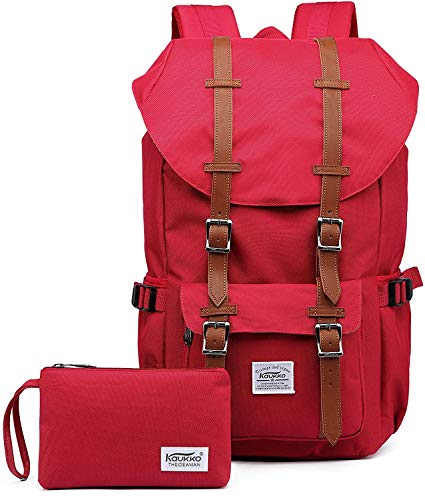 Travel Laptop Backpack, Durable Outdoor Rucksack with Thickened Computer Inner Bag, Water Resistant College School Backpack Gifts for Men & Women Fits 15.6 Inch Notebook(Nred 2pcs)
