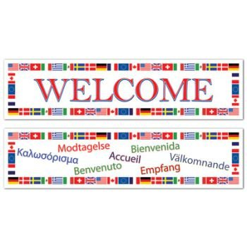 """International """"Welcome"""" Banners"""