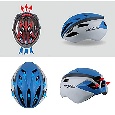 Bicycle Helmet Adult One-Piece Mountain Bike Road Bike Riding Helmet Adjustable PC + EPS 14 Holes-White Black-L(58-62CM) : Sports & Outdoors