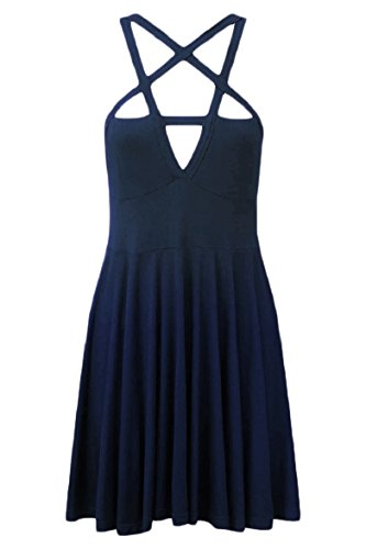 Coolred Navy Dell'oscillazione Mini donne Abito A Blu Sexy Punte Stella Cinque Fionda Rilassato 6wRqx6Or