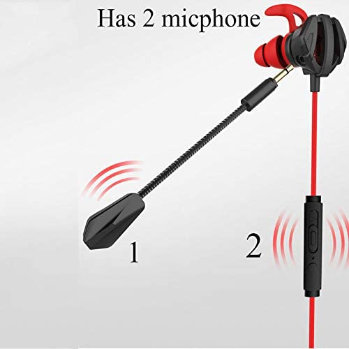 RONSHIN Gaming Earphone 7.1 Headset Helmets with Dual Mic Gaming Earphones PC Gamer with Volume Control for PUBG PS4 CSGO Casque Games Black