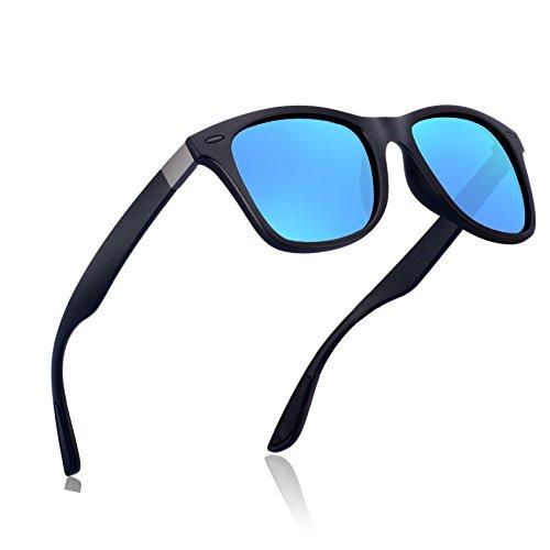 wearpro Wayfarer Sunglasses for Men Vintage Polarized Sun Glasses WP1050 (Blue/black_nail, 2.13) by wearpro
