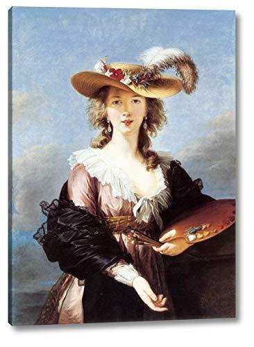 (Self-Portrait in a Straw Hat by Elisabeth Vigee-Lebrun - 13
