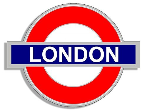 American Vinyl Tube Sign Shaped London Sticker (UK England Underground Decal City)