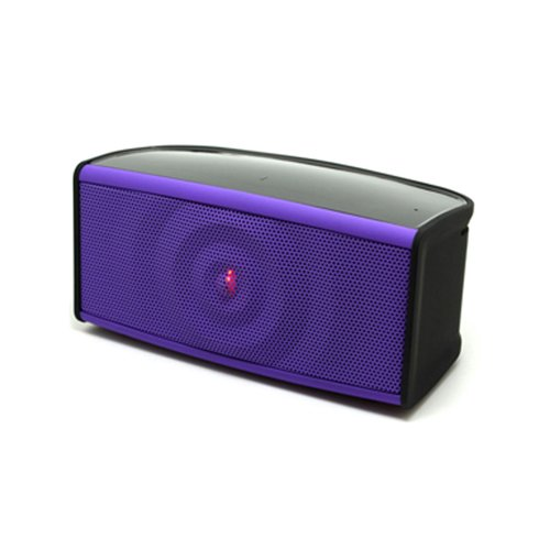 Ipod Purple Speaker - RND Ripple Bluetooth Speaker with two front speakers, subwoofer and microphone for iPhone, iPad, Samsung S6 / S6 Edge, Nexus, HTC M9, Nokia, Motorola and More (Purple)