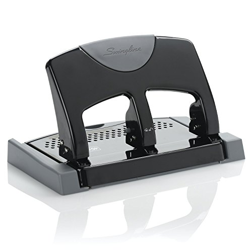 Swingline 3 Hole Punch, SmartTouch, Low Force, 45 Sheets (A7074136), Case of 4 by Swingline