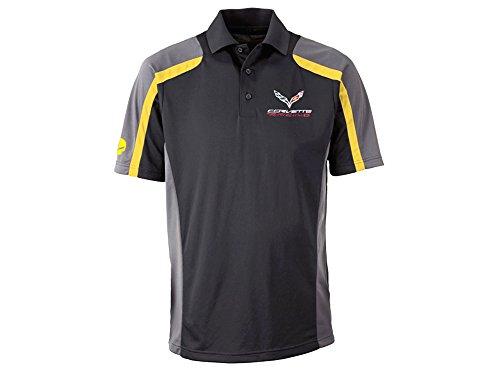 Corvette Racing Polo Black, Gray and Yellow 2X-Large
