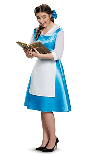 Belle And The Beast Halloween Costumes (Belle Blue Dress Adult Costume, Womens, Medium)