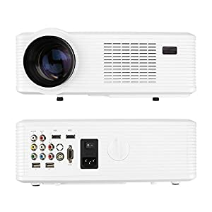 FastFox HD Projector Full Color Single LCD Panel LED Technology 720P 3000 Lumens Analog TV Multimedia Beamer Home Proyector for Cinema Theater Tablet Video Movie from FastFox