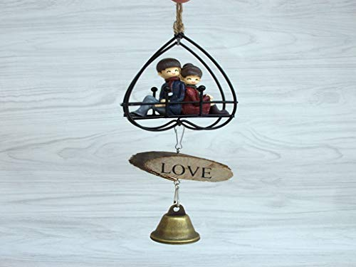 - Couple Wrought Iron Wind Chimes Creative Home Birthday Gift Ornaments Crafts Personalized Boutique Pendant