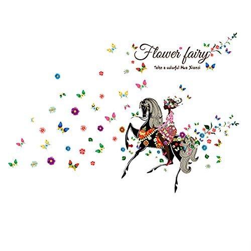 eDealMax quitation Fleur Fe Papillon Fille vinyle autocollant de mur Pour la Maison Salon Chambre Nursery Dcor amovible Mural Stickers muraux