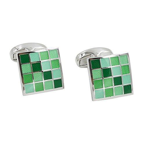 Jade Coral Green Cufflinks | 5 Yr Warranty | Gift Box Inc | 35th Anniversary Gift by AUSCUFFLINKS (Image #8)