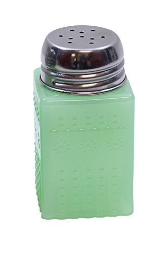 Jadeite Glass Collection (TM) Salt & Pepper Shaker with Metal Top, 2-Ounce ()