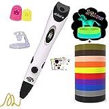 dikale 3D Pen with PLA Filament Refills 07A【Newest Version】 3D Drawing Printing Printer Pen Bonus 12 Colors 120 Feet PLA 250 Stencil eBook for Kids Adults Arts Crafts Model DIY, Non-Clogging ...