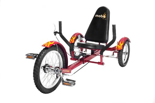 Recumbent Bicycle Wheels (Mobo Triton (Red) The Ultimate 3 wheeled Cruiser (16