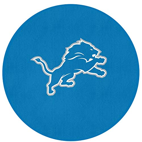 MamaTina Design Colorful Round Doormat Detroit Lions American Football Team Non-Slip Round Floor Mat Rug Indoor Entrance Bathroom Kitchen Bedroom Home Decor
