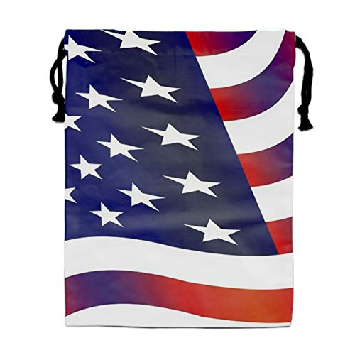 Flag United States.jpg Drawstring Backpack Bags Goody Bags Party Favor Bags Supplies for Boys and -