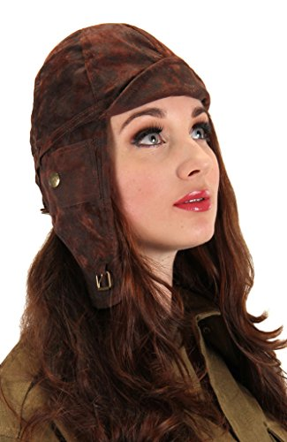 elope Aviator Costume Steampunk Hat for Adults, Brown