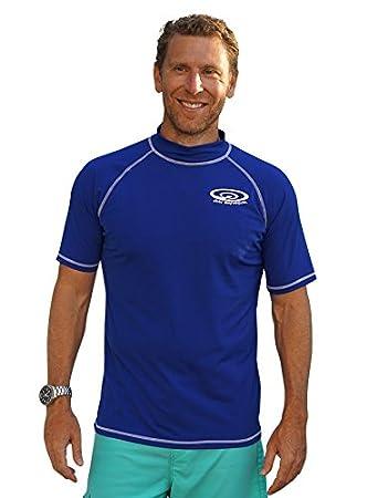 Sun Emporium Plus Size Rash Guard Swim Shirt For Big and Tall Large Men
