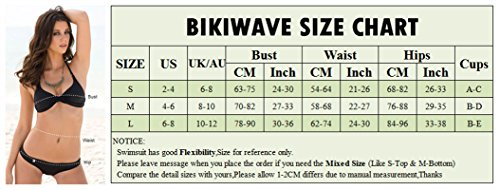 Biki Wave New Hot Design Sexy Women Bikini Brazilian Thong Swimsuit Swimwear (Small, White)