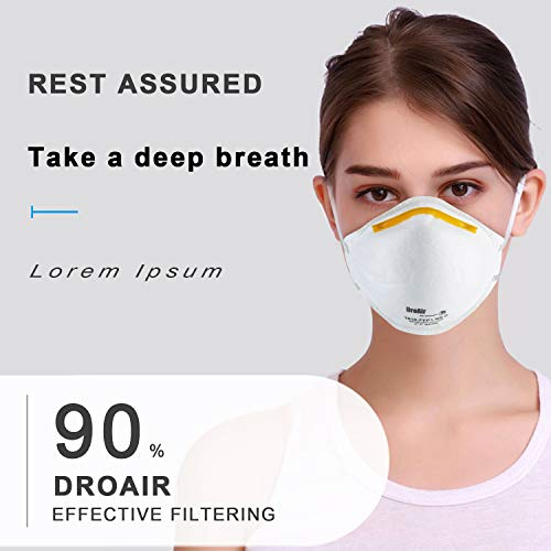 N95 Mask Particulate Respirator Mask, Disposable Safety Masks, Headband Mouth Face Mask Dust-Proof Anti-Fog FFP1 (1 pcs)