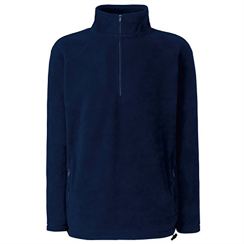 Fruit of the Loom Herren Indoor Weste Half Zip Deep Navy