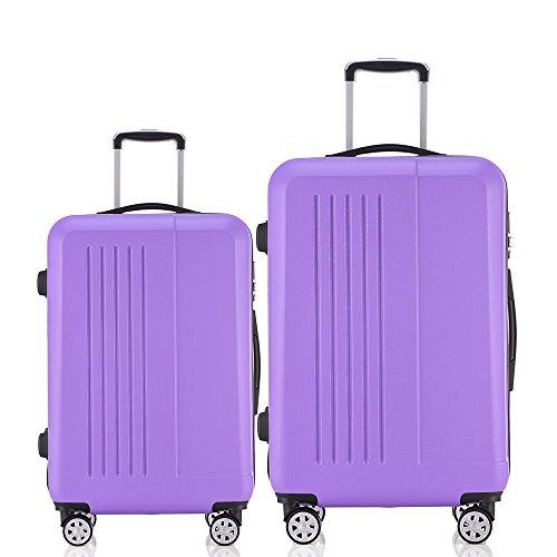 Fochier Luggage 2 Piece Set Lightweight Spinner Suitcase 20i