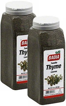 Badia Thyme Leaves Whole 2 lbs Pack of 2 by Badia