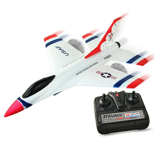 Latest Glider Airplane,Vanvler SU-35 RC Remote Control Helicopter Plane Glider Airplane EPP Foam 3.5CH 2.4G RC Toys (White)