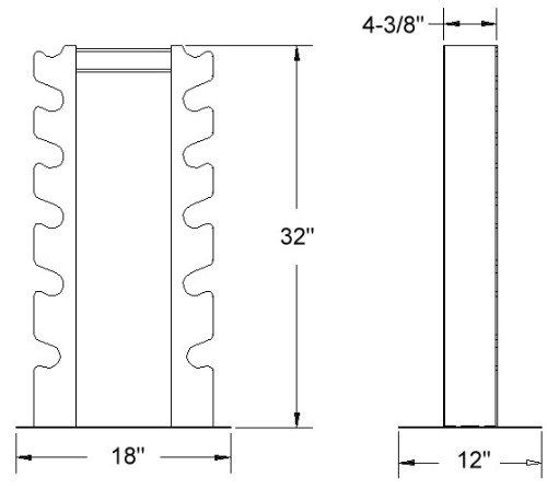 Deltech Fitness 6 Pair Vertical Dumbbell Rack