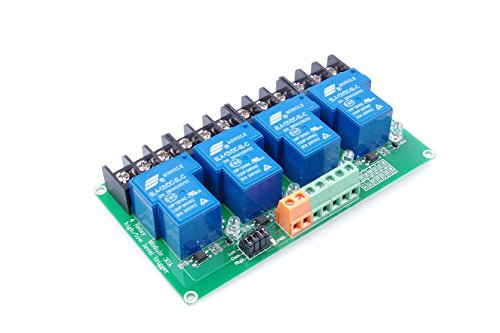 (KNACRO 4-Channel DC 12V Relay Module High/Low Level Triggering Optocoupler Isolation Load 30A DC 30V / AC 250V for PLC Automation Control, Industrial System Control, Arduino (DC 12V))