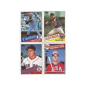 (1985 Topps Baseball Complete 792 Card Set with Kirby Puckett, Roger Clemens and Mark McGwire Rookie Cards Plus Other Stars Including Ryan, Brett, Mattingly, Ripken, Gooden, Sandberg, Boggs, Henderson, Gwynn and More!)