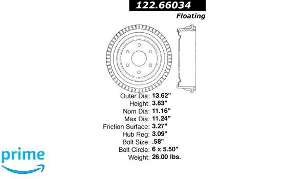 Centric Parts 122.67033 Brake Drum Power Slot