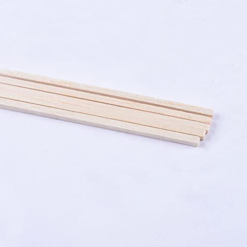 Toygogo 5本入り 棒 四角 スティック バルサ材 バルサ木 DIY 建物 モデル クラフト 全3タイプ - 直径5mm(10本)