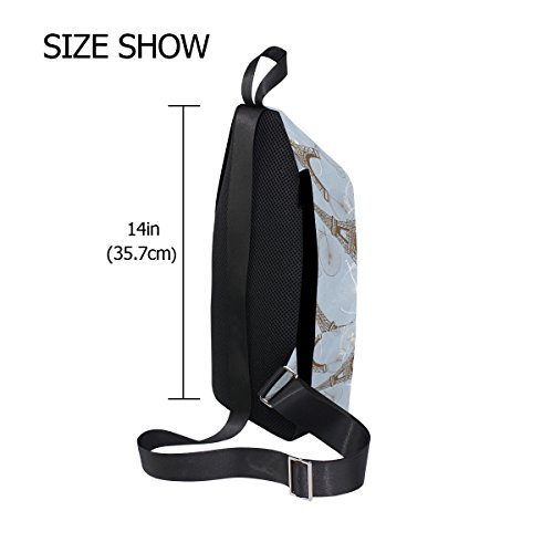 Sling Dragonswordlinsu Backpack Para Tower Coosun Bag Cross Casual Body Hombre And Chest Eiffel Daypack Shoulder Mujer Bicycles Ligero rxZqXwxPE