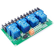 KNACRO 4-Channel DC 05V / 12V / 24V Relay Module High / Low Level Triggering Optocoupler Isolation Load 30A DC 30V / AC 250V for PLC Automation Control, Industrial System Control, Arduino (DC 12V)