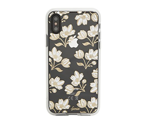 Sonix DAFFODIL (white flowers) Cell Phone Case [Military Drop Test Certified] Protective Clear Case for Apple iPhone X, iPhone XS
