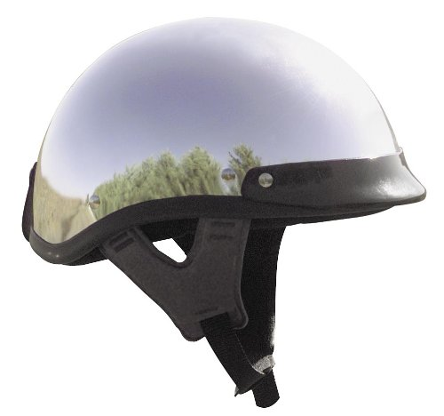 Skid Lid Traditional Motorcycle Helmet Chrome Large