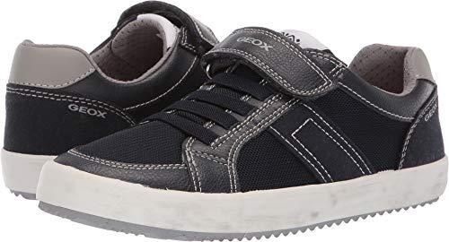 Geox J Alonisso Boy C Low-Top Sneakers, (Navy/Grey C0661), 3 UK Child ()