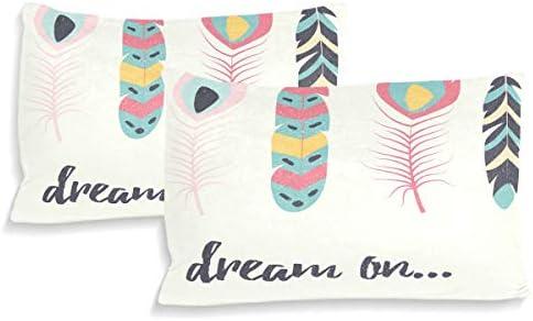 DEZIRO Parure de lit décorative pour enfant Motif rêve sur plumes Taille standard pour enfant et adolescents