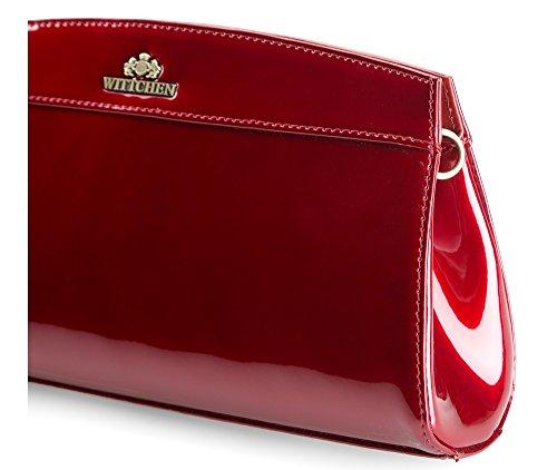 Collection 25 29 Rouge 516 Matériel Rouge 3 Couleur Wittchen 4 Taille verni x Sac Cuir classique 16 Verona OqxvxnPAwS