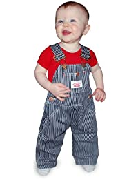Round House Kids Striped Overalls
