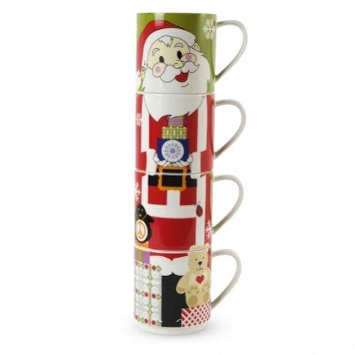 - Maxwell & Williams Kris Kringle 14.5-oz. Santa Mug - Set of 4 - Gift Boxed