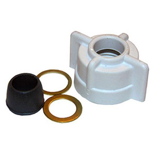 LASCO 03-1847 Faucet Plastic Slip Joint Supply Tube Connection Nut 3/8-Inch Tube X 1/2-Inch - Connection Joint Slip