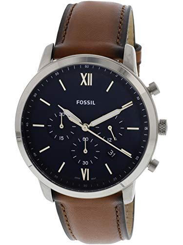 Fossil Men's 'Neutra Chrono' Quartz Stainless Steel and Leather Casual Watch, Color:Brown (Model: FS5453) -